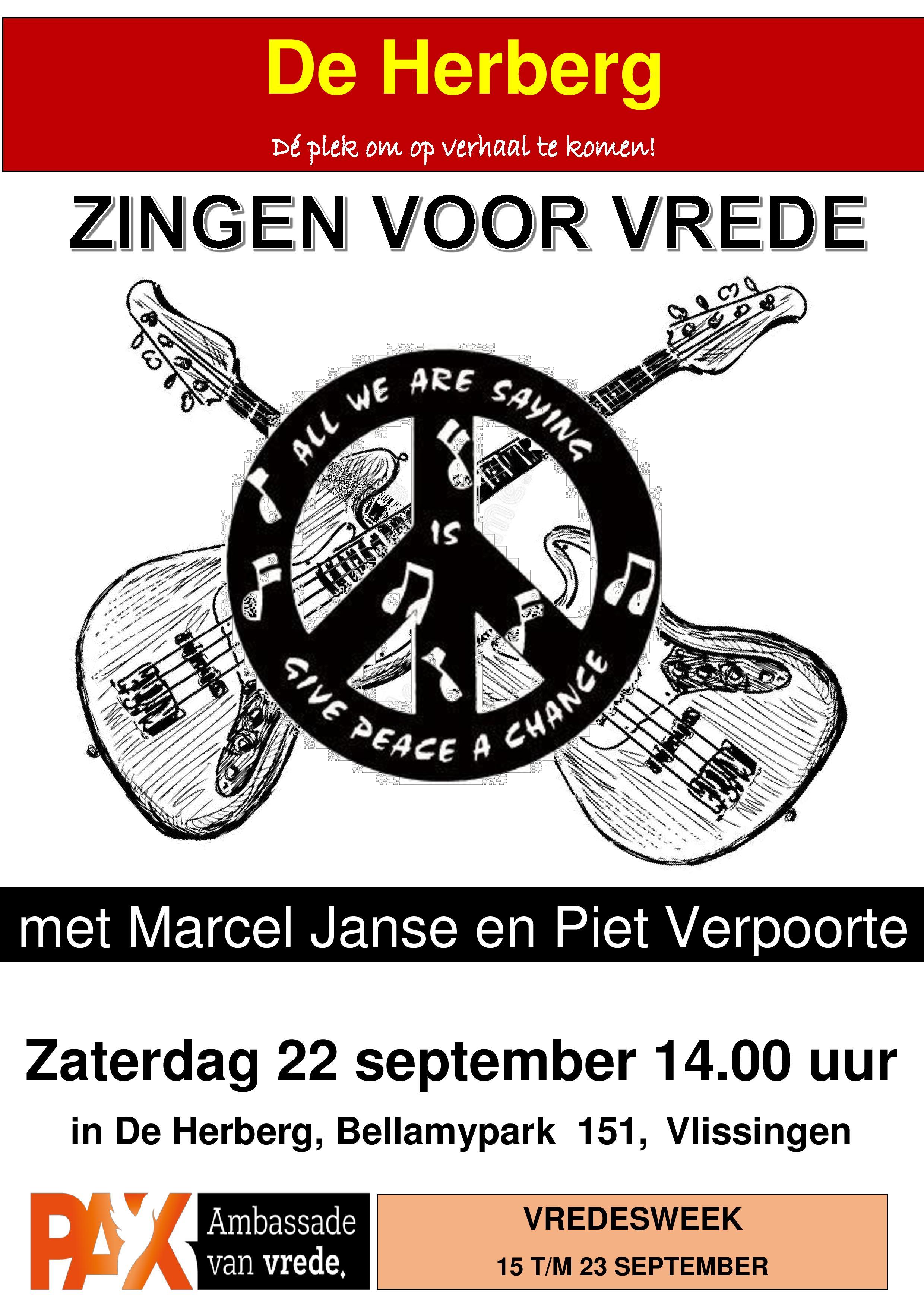 Poster Zingen voor Vrede 2018